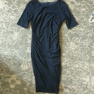 Vince Camuto Navy Cocktail Dress